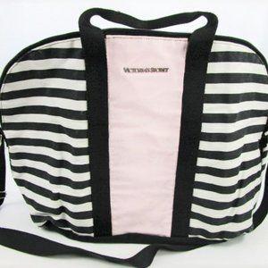 Victoria's Secret Back Striped Canvas Tote